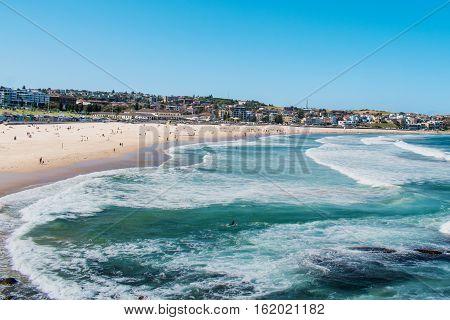 výhled na Bondi beach Sydney rijen 2016
