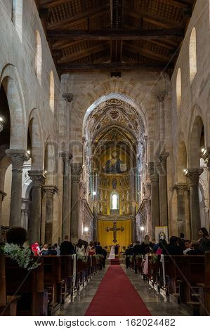 Wedding In The 13Th Century Cefalu Cathedral.