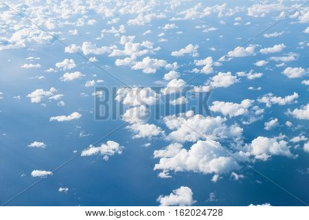 Clouds Above Ocean - Aerial Shot Above Clouds