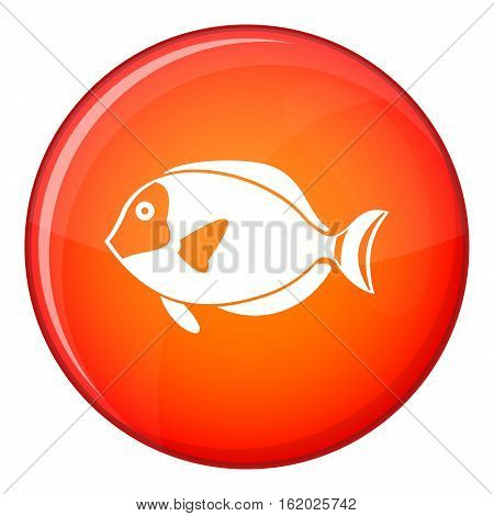 Surgeon fish icon in red circle isolated on white background vector illustration