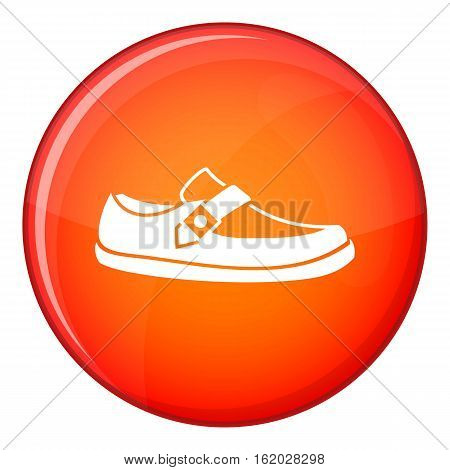 Men moccasin icon in red circle isolated on white background vector illustration