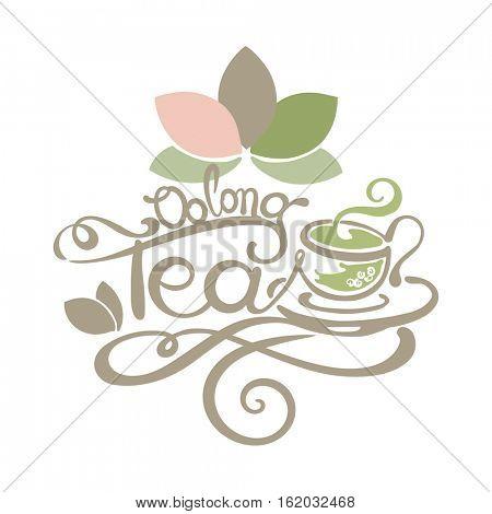 Lettering - Oolong Tea - good for label, logo, menu decoration.