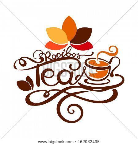 Lettering - Rooibos Tea - good for label, logo, menu decoration.