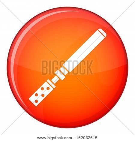 Electronic cigarette with cartridges icon in red circle isolated on white background vector illustration