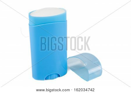 Blue Deodorant Container Isolated On White Background