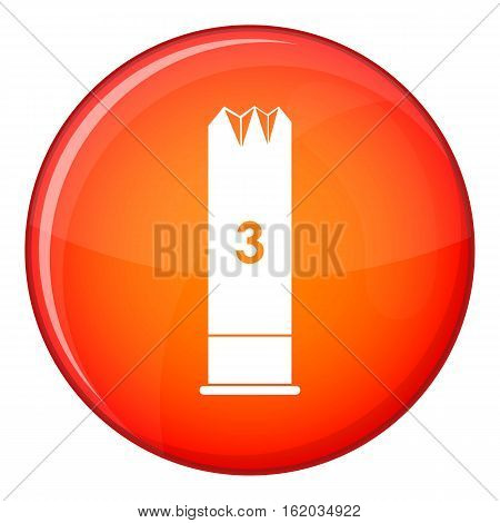 Expanding bullets icon in red circle isolated on white background vector illustration