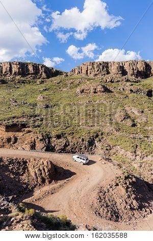 Mountains Vehicle Rugged Terrain