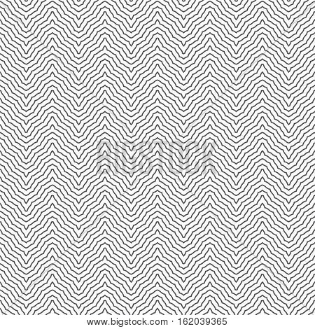 Seamless pattern. Modern stylish geometric texture. Regularly repeating zigzags with curved broken stripes. Vector contemporary design