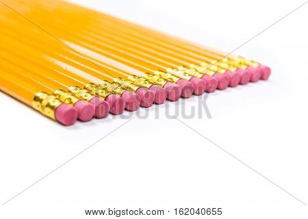 No 2 Pencils Isolated On White Background