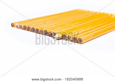 Concept Unique No 2 Pencils Isolated On White Background