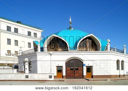 KAZAN RUSSIA - April 18.2010: The building of a specialized fire station on the territory of the Kazan Kremlin
