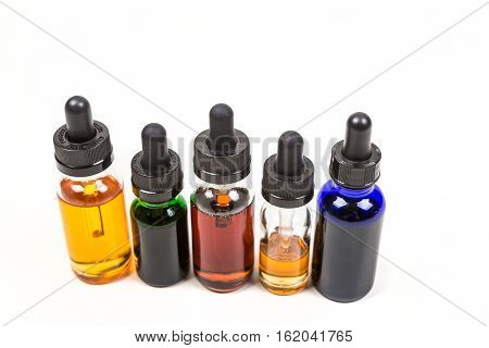 Flavored Vape Juice Isolated On White Background