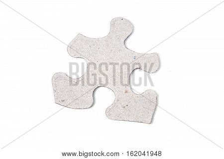 Single puzzle piece isolated on white background