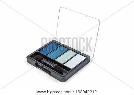 Blue Eyeshadow Palette Isolated On White Background