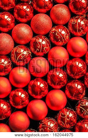 Brilliant Christmas Lustrous Red Color Balls