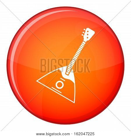 Balalaika icon in red circle isolated on white background vector illustration