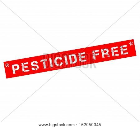 Rubber stamp label with text pesticide free