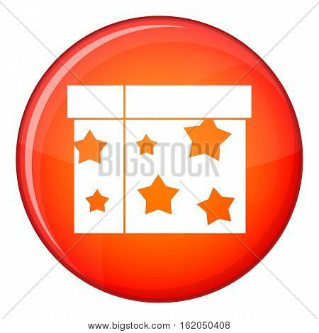 Box magician icon in red circle isolated on white background vector illustration