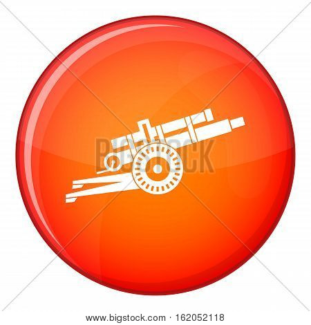 Artillery gun icon in red circle isolated on white background vector illustration
