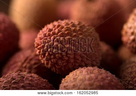 Lychee, close up of Fresh lychee fruit