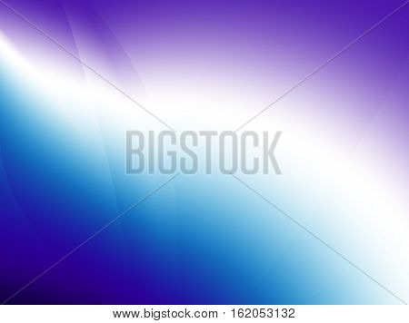 Beautiful shiny deep blue purple / violet and white abstract fractal with thin lines breaking the gradient. Text space. For layouts web design leaflets templates skins PC or phone backgrounds.