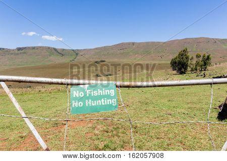Farm Gate No Fishing Hunting