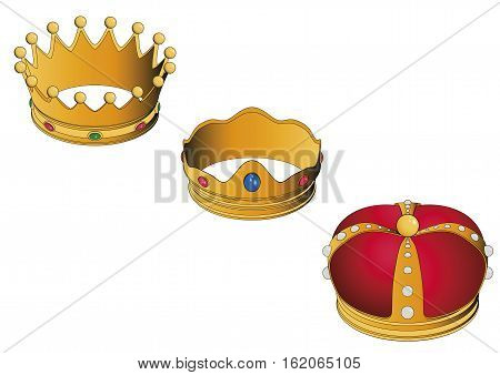 Three Wise Men Golden Crowns