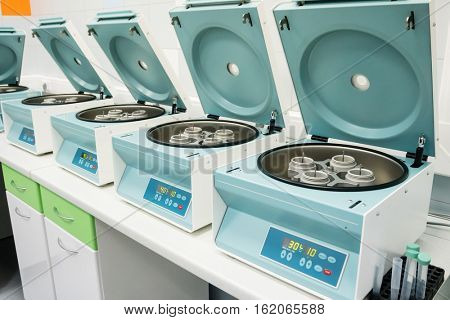 Medical centrifugal machines in hospital