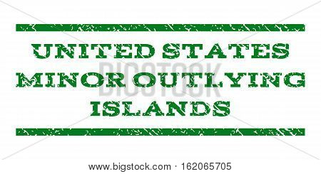 United States Minor Outlying Islands watermark stamp. Text tag between horizontal parallel lines with grunge design style. Rubber seal stamp with dirty texture.