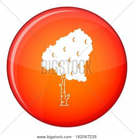 Birch icon in red circle isolated on white background vector illustration
