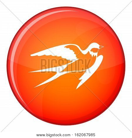 Barn swallow icon in red circle isolated on white background vector illustration