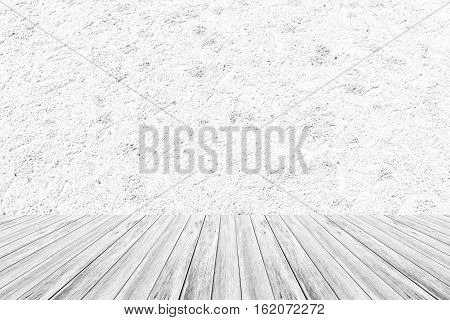 Sand Texture Surface With Wood Terrace