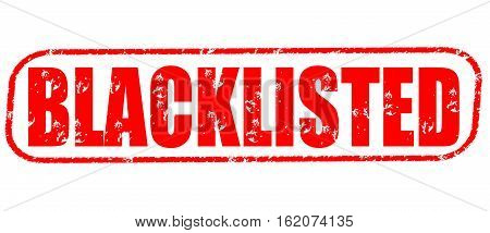 Blacklisted n the white background, red illustration