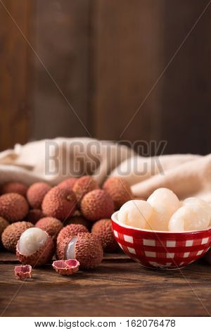 Close-up Of Fresh Lychee