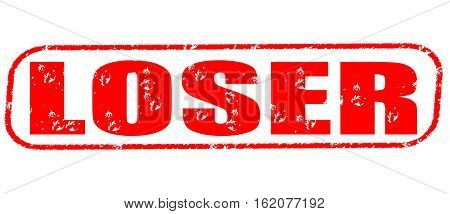 Loser on the white background, red illustration