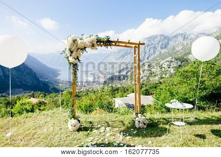 Destination Wedding Arch With Decoration