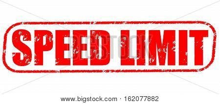 Speed limit on the white background, red illustration