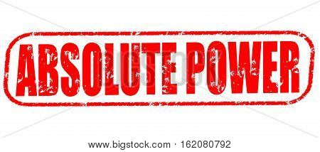Absolute power on the white background, red illustration