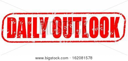 Daily outlook on the white background, red illustration