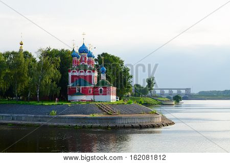 Church of Tsarevich Dmitry on Blood on shore of Volga Uglich Russia