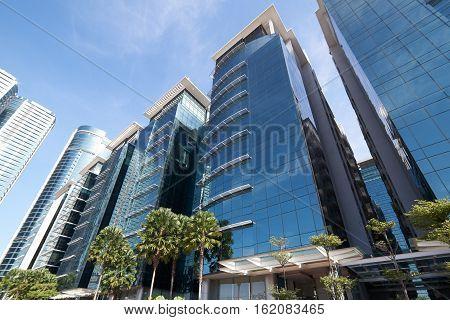 Morden buildings of Kuala Lumpur the capital city of Malaysia .