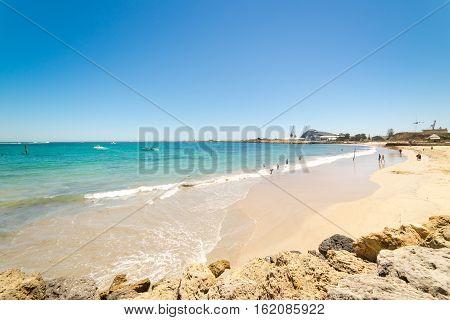 Beach at Fremantle , Perth ,Australia .