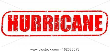 Hurricane on the white background, red illustration