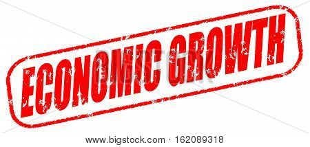 Economic growth on the white background, red illustration