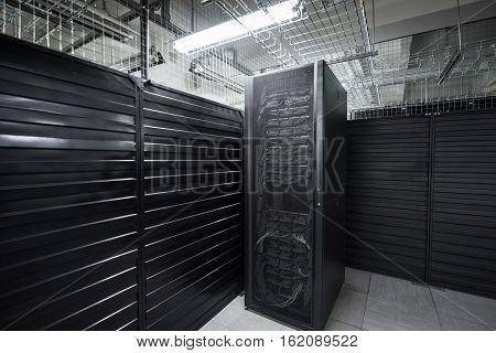 The Huge Data Center Server Room Cloud Services
