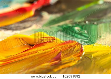 abstract oil paint texture on palette art