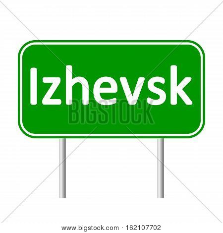 Simferopol road sign isolated on white background.