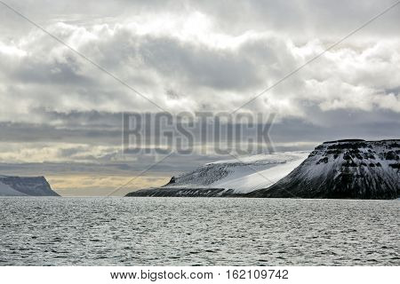 Prince George Land island in Franz Josef Land archipelago, Russia