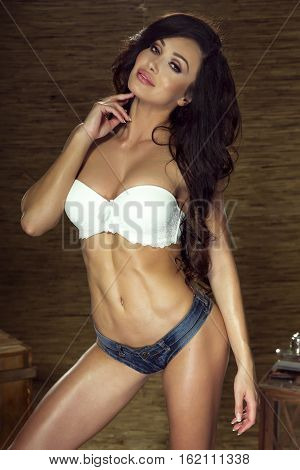 Sexy Woman With Ideal Body.