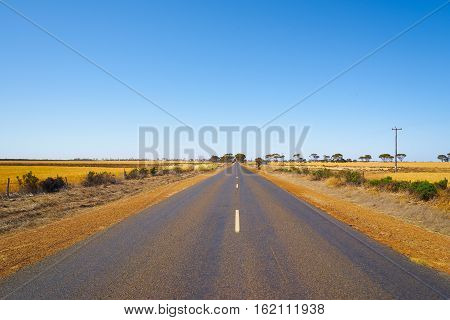 View of an endless asphalt road in perth